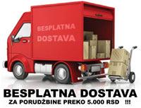 Besplatna dostava za porudžbine preko 5000 RSD!!!