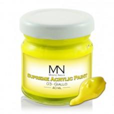 MYSTIC NAILS Supreme Akrilna boja - no.03. Giallo - 40 ml