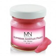 MYSTIC NAILS Supreme Akrilna boja - no.09. Rosa - 40 ml