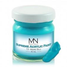 MYSTIC NAILS Supreme Akrilna boja - no.13. Mare Blu - 40 ml