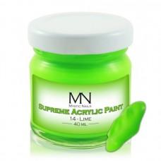 MYSTIC NAILS Supreme Akrilna boja - no.14. Lime - 40 ml