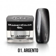MYSTIC NAILS MagnetiColor Gel - 01 - Argento - 4g