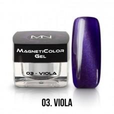 MYSTIC NAILS MagnetiColor Gel - 03 - Viola - 4g