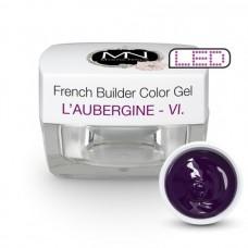 MYSTIC NAILS French Builder Color Gel - VI. - l'Aubergine -15g