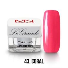 MYSTIC NAILS LEGRANDE color gel - no.43. - Coral - 4g