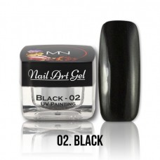 MYSTIC NAILS UV Painting Nail Art Gel - Ice Cream - Black - 4g