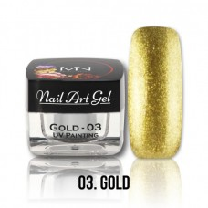 MYSTIC NAILS UV Painting Nail Art Gel - Ice Cream - Gold - 4g