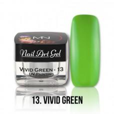 MYSTIC NAILS UV Painting Nail Art Gel - 13 - Vivid Green - 4g
