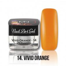 MYSTIC NAILS UV Painting Nail Art Gel - 14 - Vivid Orange - 4g