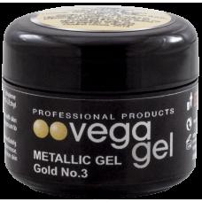VEGA METALIC GEL GOLD 5ml