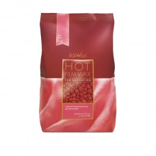 ITALWAX Film vosak za toplu depilaciju RUŽA 1kg