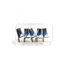 4NAILS Metalni šablon za nokte srebrni