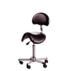 ARCOBALENO Stolica za frizera ARNO 7283 ALUMINIJUM CRNA