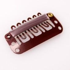 BE-LEAVE Silikonske klipsne braon 1kom