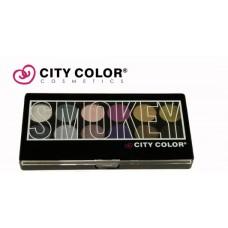 CITY COLOR Eyeshadow book smokey paleta senki 12x0,7g