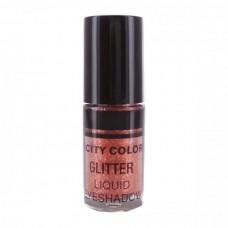 CITY COLOR Tečna gliter senka Copper 3ml