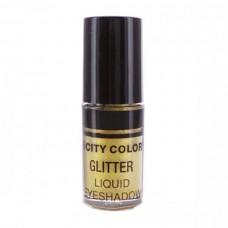 CITY COLOR Tečna gliter senka Gold 3ml