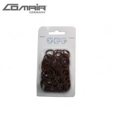 COMAIR Solida gumice za kosu 100/1 braon
