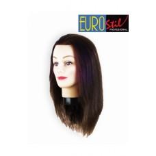 EUROSTIL Glava za trening prirodna kosa 35-40 cm 0624