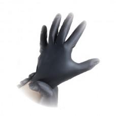LACOMES Nitrilne rukavice bez pudera CRNE - veličina L